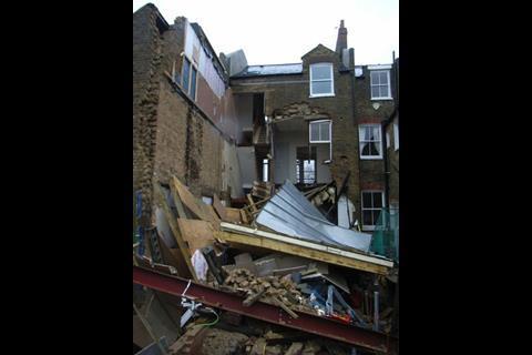Clapham house collapse